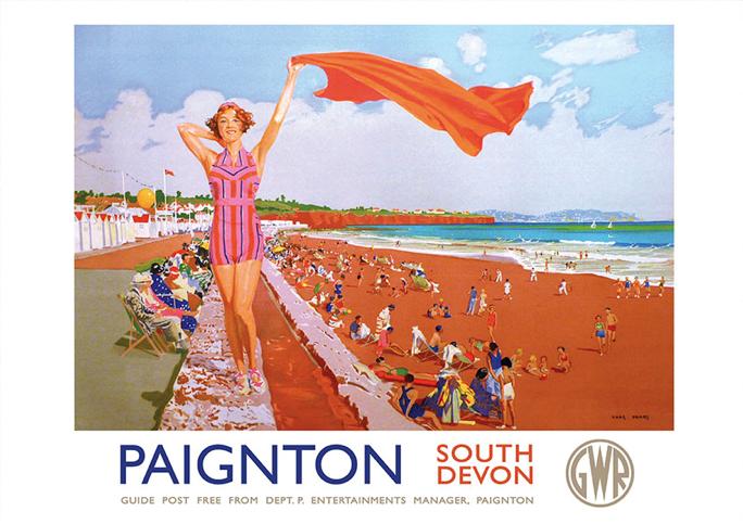 paignton-beach-gwr-travel-poster